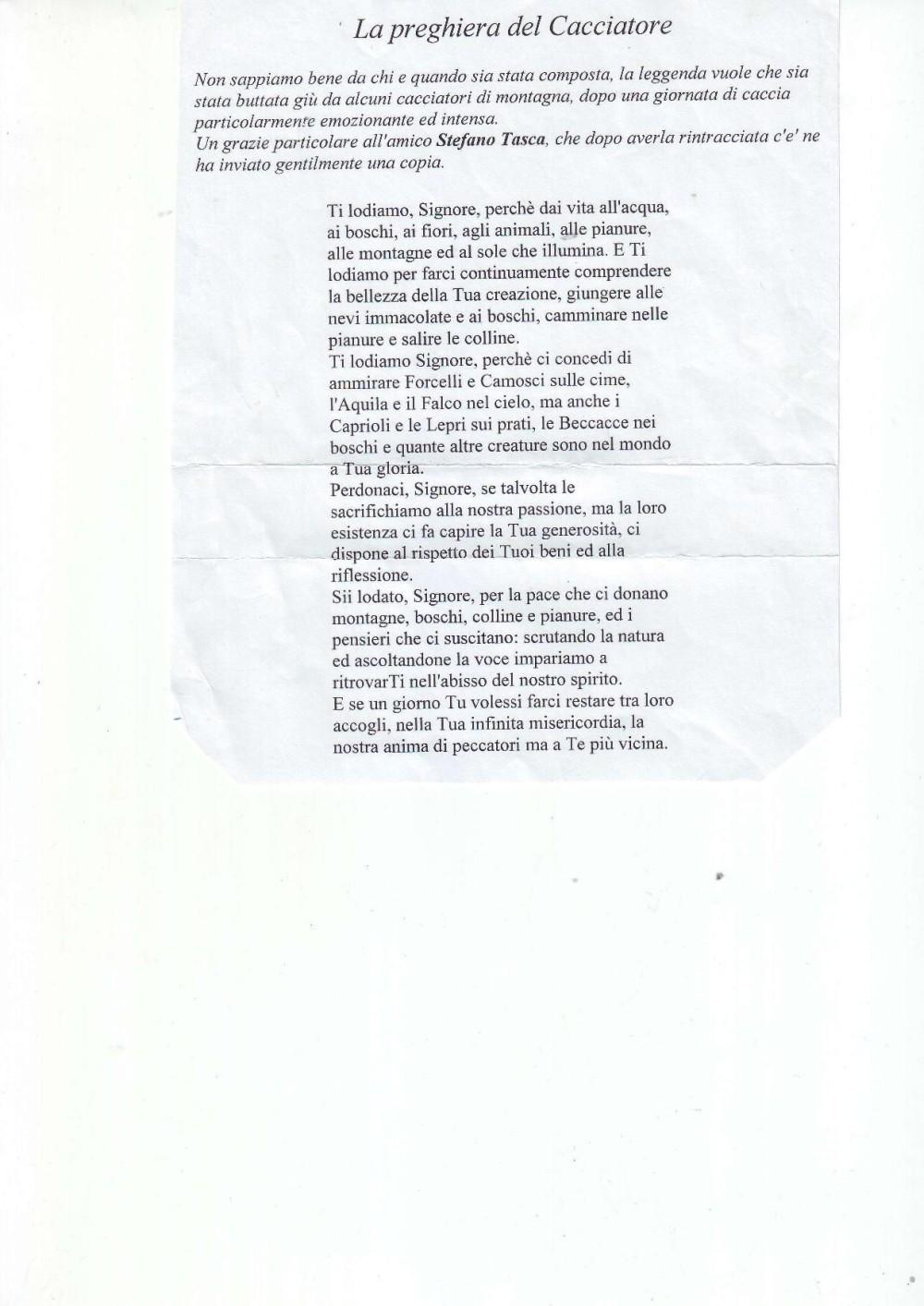 Preghiera del cacciatore, pagina 2
