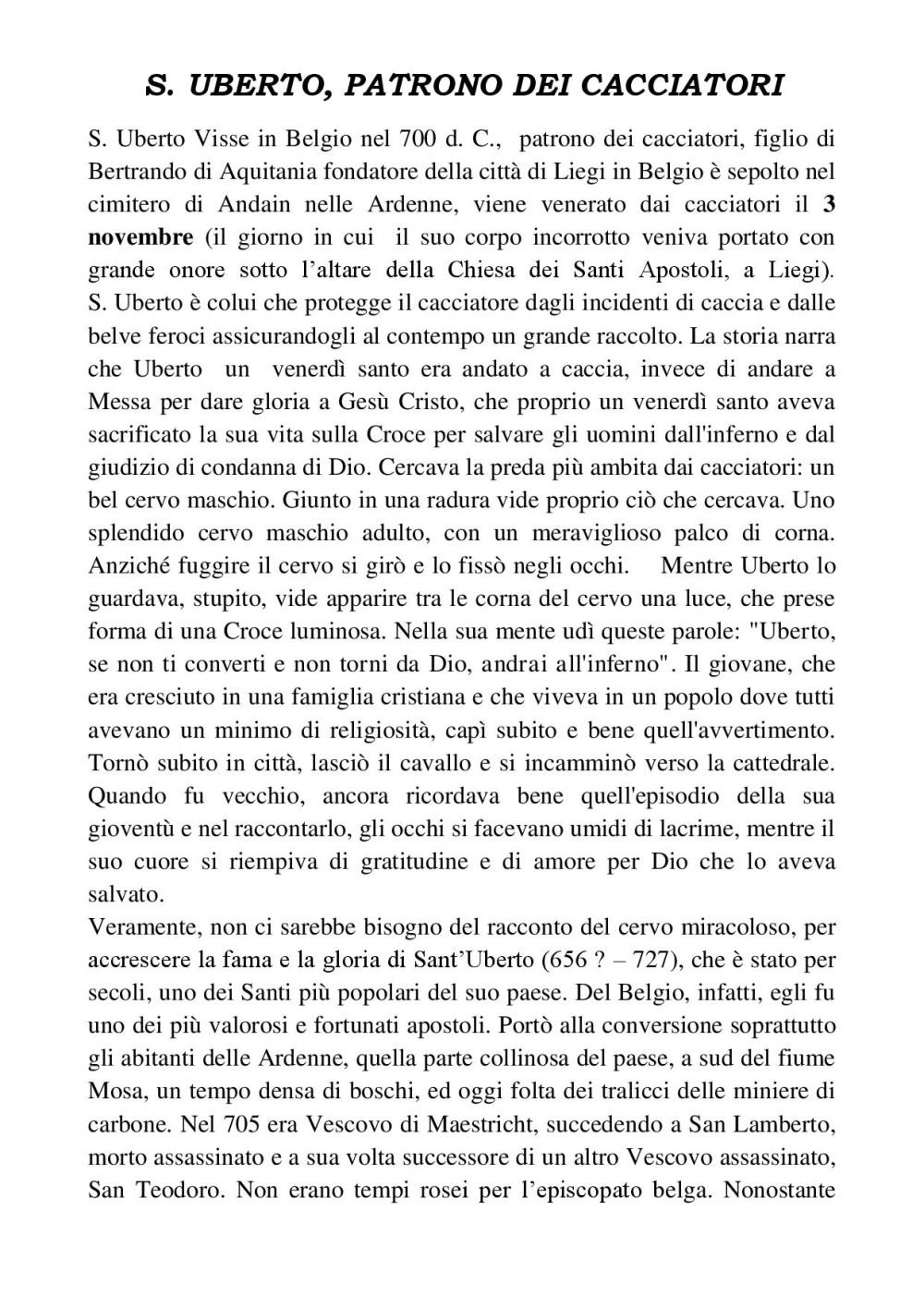 Vita di San Uberto, pagina 2