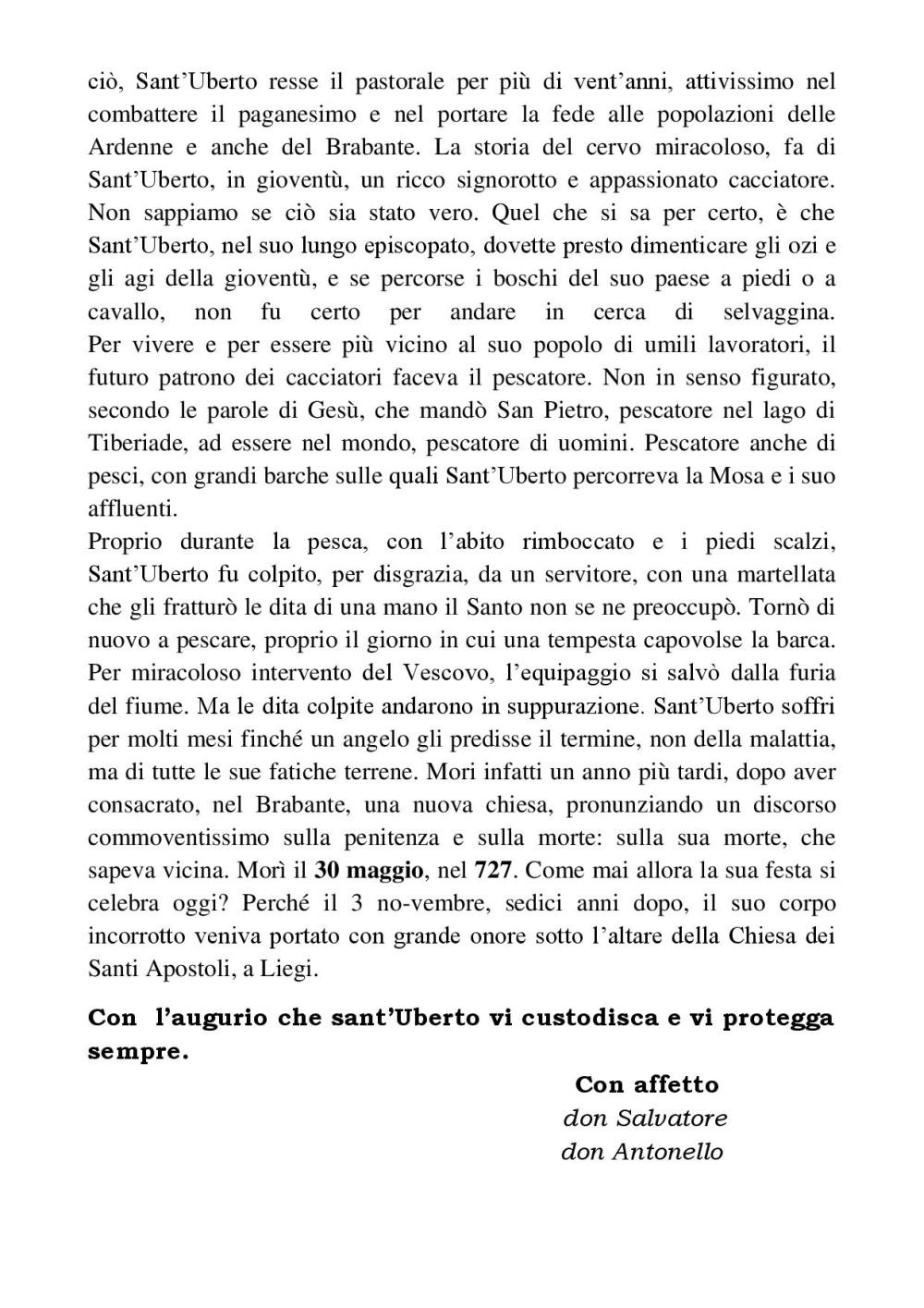 Vita di San Uberto, pagina 3