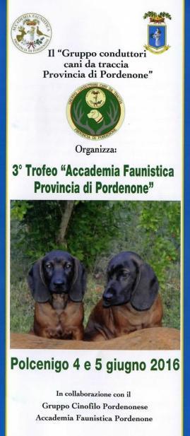3° Trofeo Accademia Faunistica Provincia di Pordenone