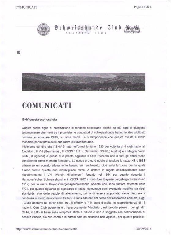 Comunicati SCHWEISSHUNDE CLUB - Pagina 1