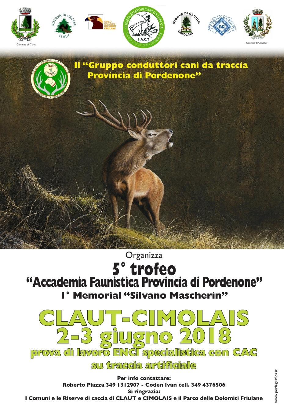 5° Trofeo 'Accademia Faunistica Provincia di Pordenone' del Gruppo conduttori cani da traccia Provincia di Pordenone